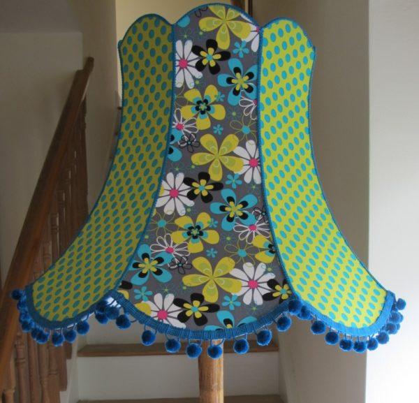 Flower polka dot lampshade