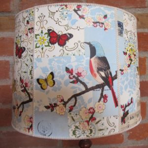 Vintage bird lampshade