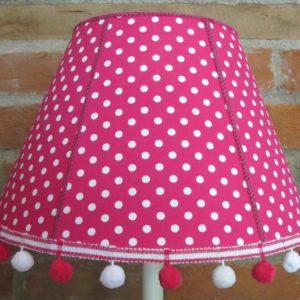Pink polka dot lampshade