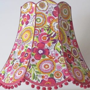 Large pink flower lampshade