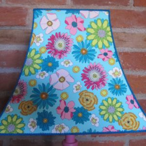 Floral turquoise lampshade